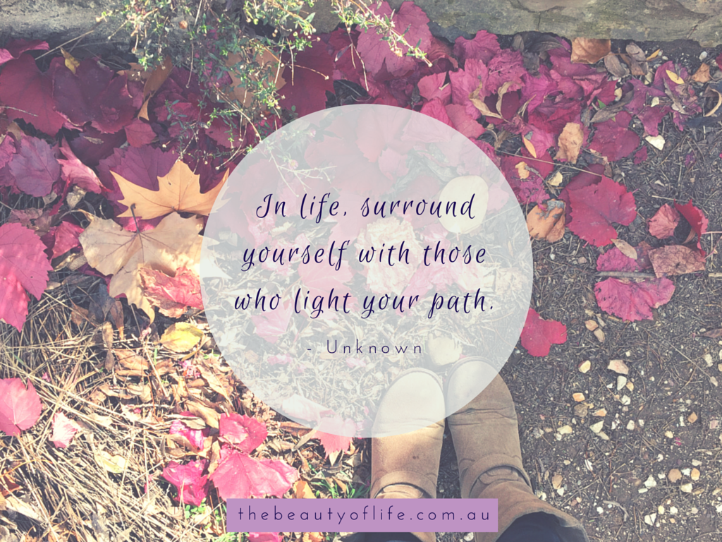 surround yourself with others