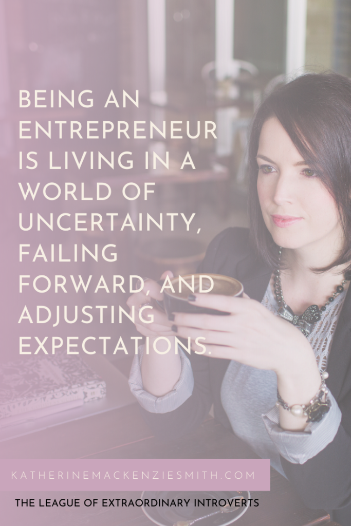 Woman sips Coffee - Being-an-entrepreneur-or-business-owner-is-living-in-a-world-of-uncertainty-failing-forward-and-adjusting-expectations