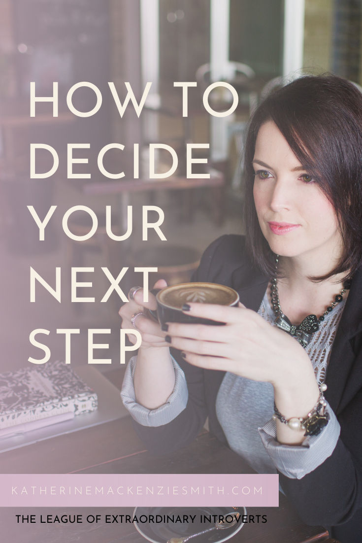 Woman with Coffee - Quote How to decide your next move